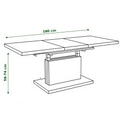 ASTON wenge - rozkladací, zdvíhací, konferenčný stolík