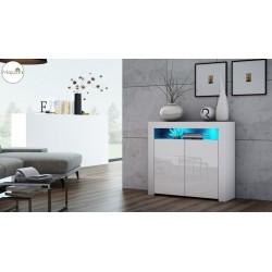MILA 2D LED skrinka biela /...