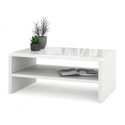 ROCK biely lesk / biela, konferenčný stolík