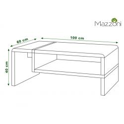 FOLK biely/dub sonoma - konferenčný stolík, moderný