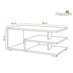 LINK betón (šedá) / biely, konferenčný stolík