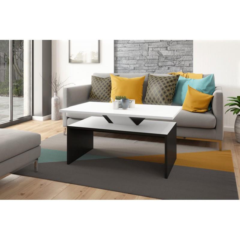 SISI - konferenčný stolík, čiernobiely, obdĺžnikový