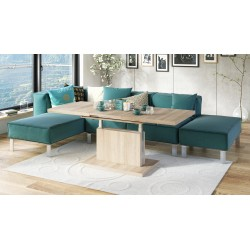 ASTON dub sonoma, rozkládací, zdvíhaci, konferenční stůl, stolek