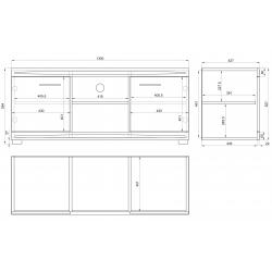 Obývacia stena SIMPLE 2 zlatý dub / biely lesk