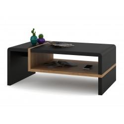 FOLK čierny / zlatý dub, konferenčný stolík