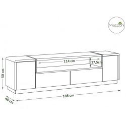 FOLK RTV-185 biely mat a lesk / beton
