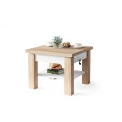 CLEO dub sonoma / biely, rozkladací, zdvíhací konferenčný stôl, stolík