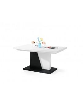 NOIR biely / čierny, rozkladacia, konferenčný stôl, stolík, čiernobiely