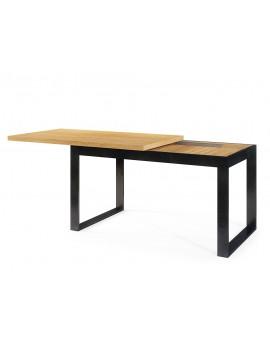 Stôl LEVRO, prírodný dub, loft, výsuvný až na 1,9 m