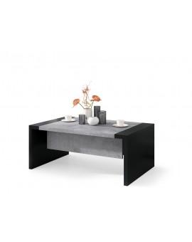 SPACE betón / čierna, rozkladací konferenčný stolík, výškovo nastaviteľný