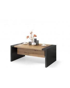 SPACE dub artisan / antracit, rozkladací konferenčný stolík, výškovo nastaviteľný